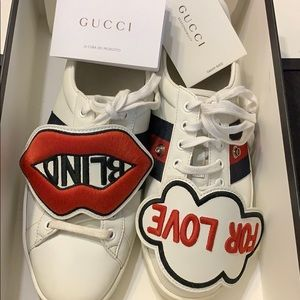 Dead-stock Gucci Ace Love sneakers size 7